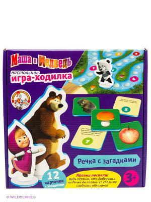 Настольная игра-ходилка Маша и медведь. Цвет: фиолетовый, зеленый, голубой
