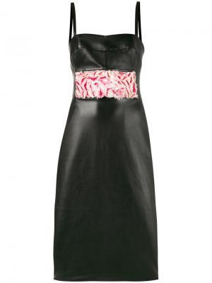 Платье Eliza с контрастной вставкой Alice Archer. Цвет: чёрный