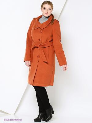 Пальто FORTUNA. Цвет: терракотовый