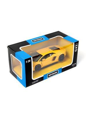 Машина металлическая Lamborghini Aventador LP 700-4 1:24. HOFFMANN. Цвет: желтый
