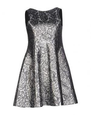 Короткое платье CAILAN'D. Цвет: серебристый
