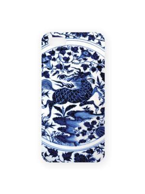 Чехол для IPhone 5 Фарфор Mitya Veselkov. Цвет: белый, синий