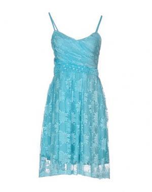 Платье до колена LA KORE. Цвет: небесно-голубой