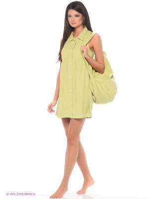 Комплект домашней одежды ( халат, сумка) HomeLike. Цвет: светло-зеленый