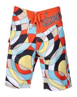 Пляжные брюки и шорты SPLIT. Цвет: оранжевый