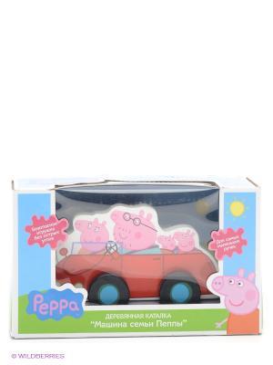 Каталка Машина семьи Пеппы, Свинка Пеппа Peppa Pig. Цвет: розовый, голубой, зеленый