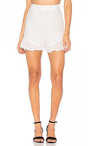 Льняные шорты all summer long LIONESS. Цвет: белый
