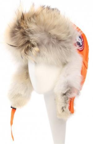 Шапка Canada Goose. Цвет: темно-оранжевый