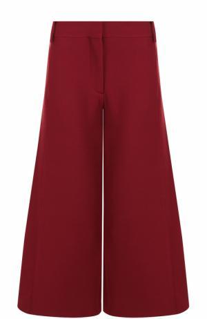 Укороченные расклешенные брюки Valentino. Цвет: бордовый