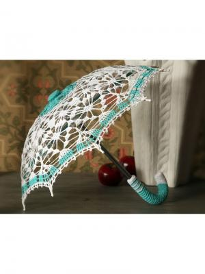 Интерьерный зонт Весна Локсы. Цвет: белый, бирюзовый