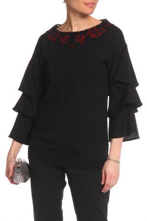 Джемпер Maria Grazia Severi. Цвет: черный, красные розы
