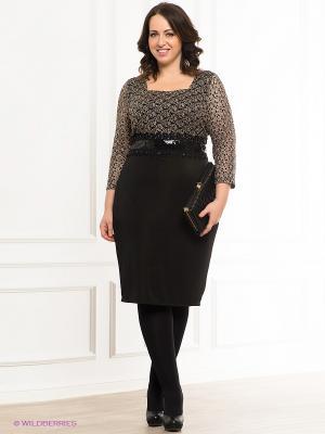 Платье VERDA. Цвет: черный, бежевый