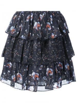 Ruffled skirt Ulla Johnson. Цвет: синий