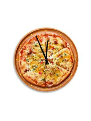 Часы настенные Miolla. Цвет: оранжевый