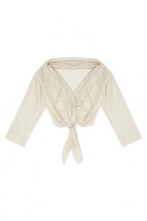 Шелковая блузка Kel The Row. Цвет: жемчужный