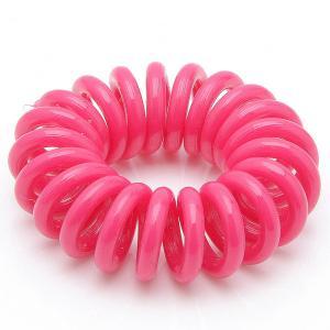 Резинка-Пружинка для волос, арт. РПВ-284 Бусики-Колечки. Цвет: малиновый