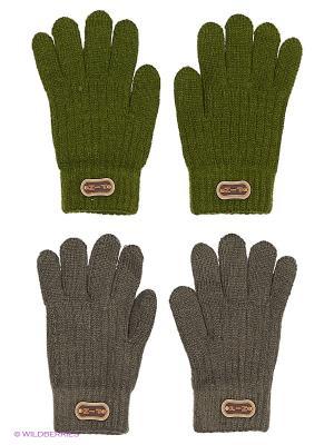 Перчатки FOMAS. Цвет: темно-зеленый, темно-серый