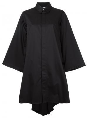 Расклешенное платье-рубашка Maison Mihara Yasuhiro. Цвет: чёрный