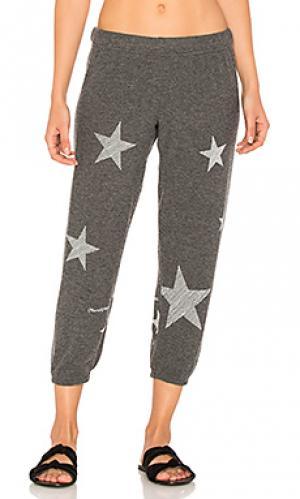 Спортивные брюки со звездным принтом в мини полоску alana Lauren Moshi. Цвет: черный