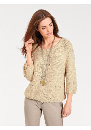 Пуловер B.C. BEST CONNECTIONS by Heine. Цвет: кремовый