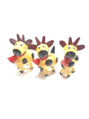 Сувенирные игрушки - Козлики белые Taowa. Цвет: черный, бежевый