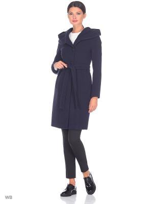 Пальто Electrastyle. Цвет: темно-синий, синий