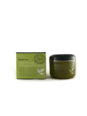 Увлажняющий осветляющий крем с семенами зеленого чая, 100 гр Farm Stay. Цвет: белый