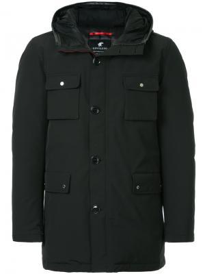 Прямая дутая куртка Loveless. Цвет: чёрный