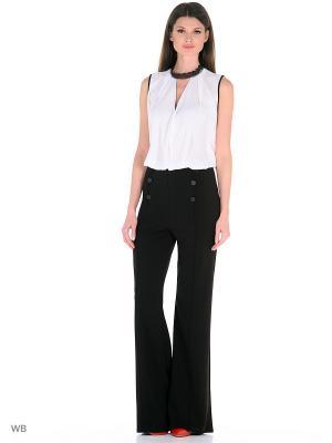 Комплект: брюки, блузка X'Zotic. Цвет: черный, молочный