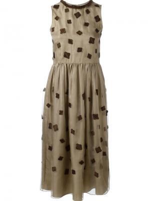 Платье с вышивкой Jupe By Jackie. Цвет: телесный