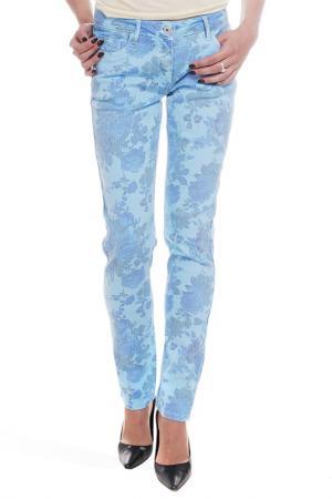 Прямые джинсы с рисунком Million X Woman. Цвет: синий