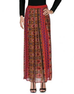Длинная юбка FAIRLY. Цвет: красный