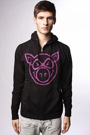 Толстовка классическая  Basic Black/Purple Pig