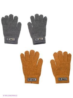 Перчатки, 2 пары FOMAS. Цвет: коричневый, темно-серый