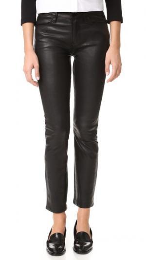 Прямые кожаные брюки Le High FRAME. Цвет: голубой
