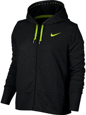 Толстовка W NK DRY HOODIE FZ Nike. Цвет: черный