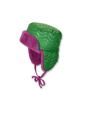 Шапка-ушанка Sterntaler. Цвет: зеленый