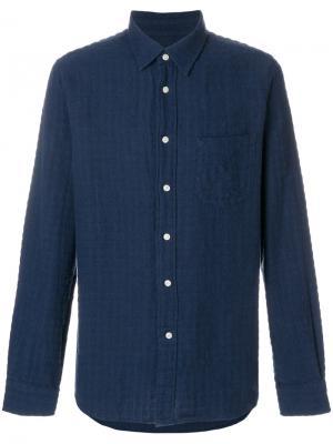 Рубашка с нагрудным карманом Bellerose. Цвет: синий