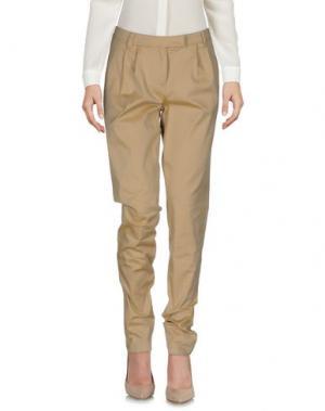 Повседневные брюки BURBERRY. Цвет: песочный