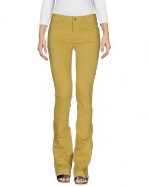 Джинсовые брюки KAOS JEANS. Цвет: охра