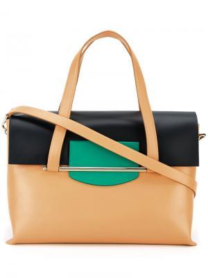 Средняя сумка-тоут Delpozo. Цвет: коричневый