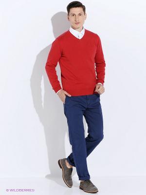 Пуловер Men of all nations. Цвет: темно-красный