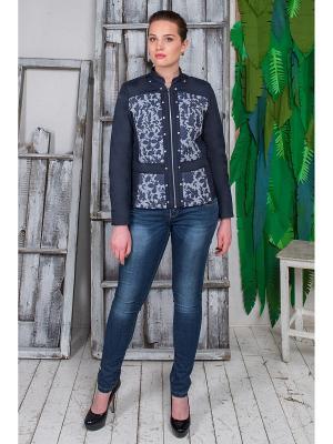 Куртка Джина Versia. Цвет: синий