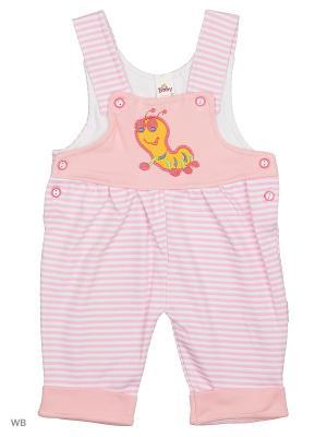 Полукомбинезон Babycollection. Цвет: розовый, оранжевый