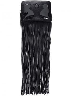 Клатч с бахромой The Volon. Цвет: чёрный