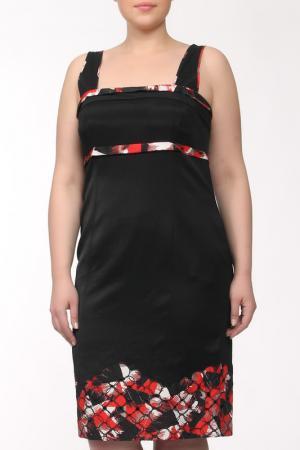 Платье GOLD. Цвет: черный, красный