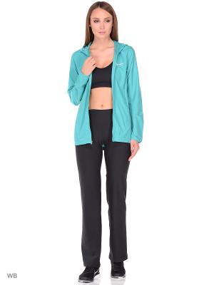 Куртка W NK ESSNTL JKT HD Nike. Цвет: зеленый