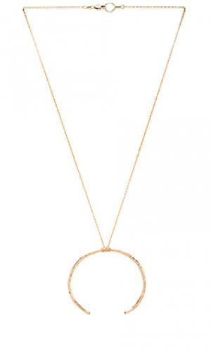 Ожерелье branch Mimi & Lu. Цвет: металлический золотой