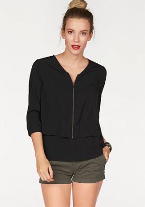 Блузка AJC. Цвет: черный