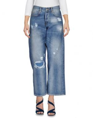Джинсовые брюки GAëLLE Paris. Цвет: синий
